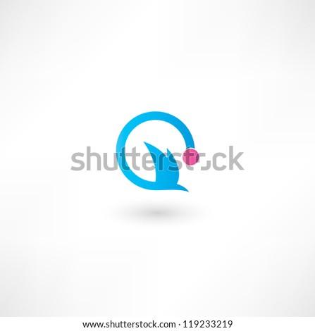 Bird. Icon - stock vector