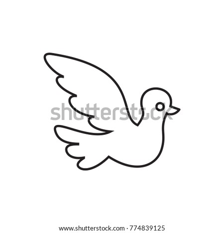 bird icon illustration isolated vector sign symbol