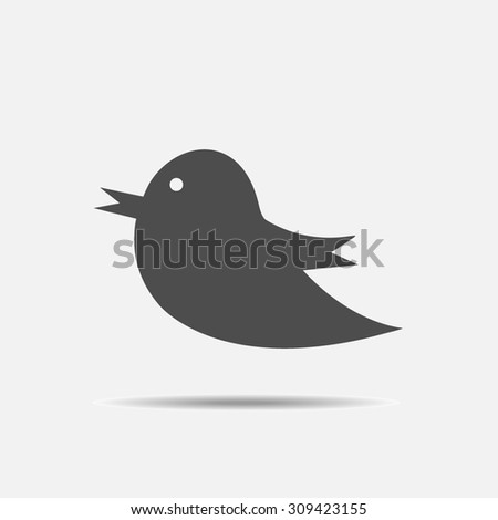 Bird icon. Social media sign - vector - stock vector