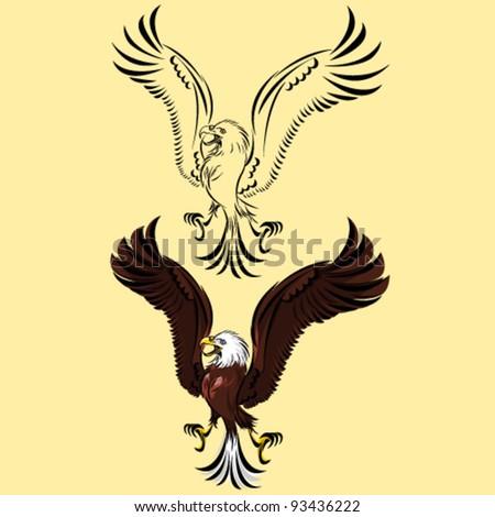 Bird of Prey Eagle - stock vector