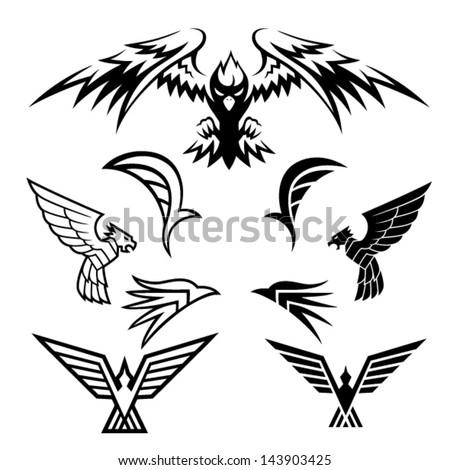 Bird Symbols A pack of bird symbols. Vector EPS10 file. - stock vector