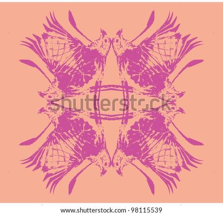 bird texture - stock vector