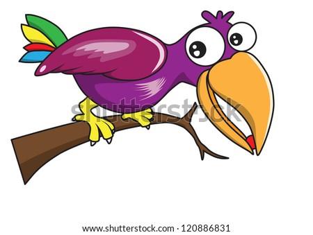 Bird vector cartoon - stock vector