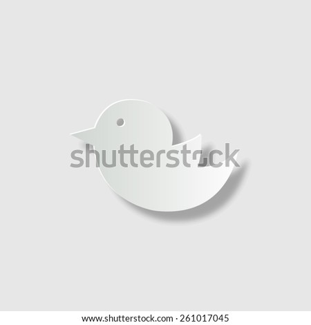 bird  - vector icon with shadow