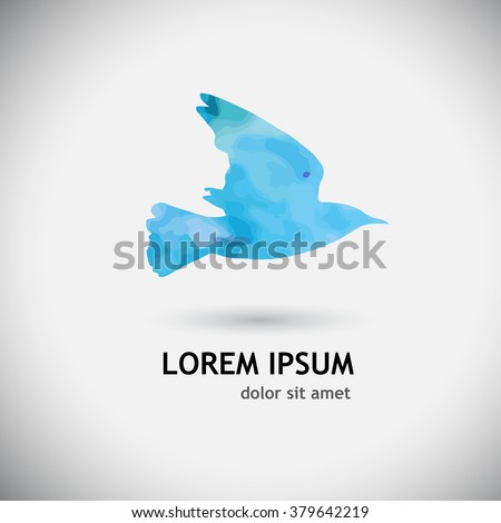 Bird watercolor. Vector - stock vector