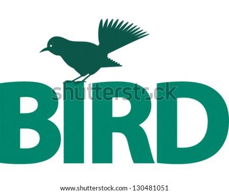 Bird Word stock vector