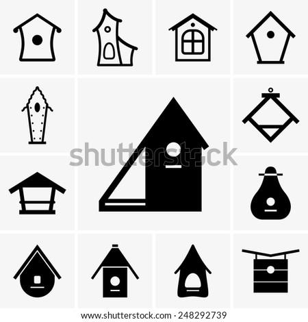 Birdhouses - stock vector