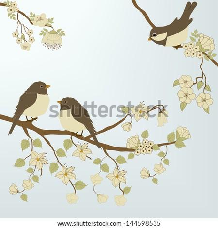 Birds - stock vector