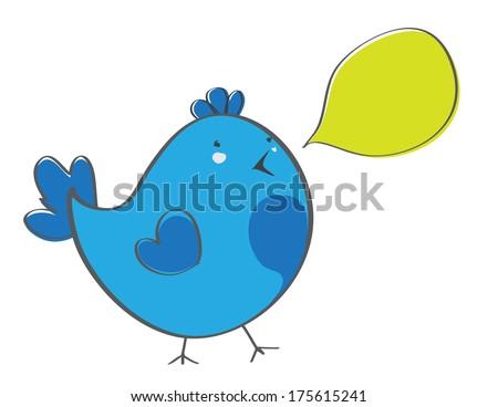 birds and bubbles - stock vector