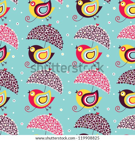Birds flying. Seamless pattern. - stock vector