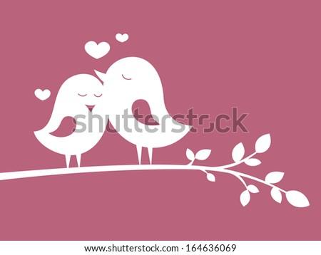 Birds in love 1 - stock vector