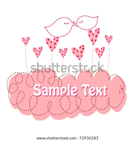 Birds in love for your greeting - stock vector