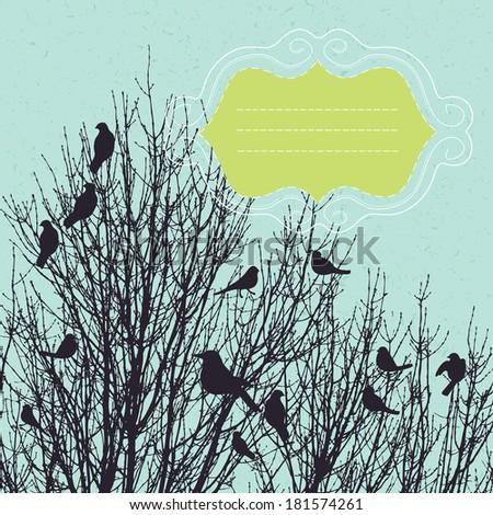 Birds in the Bush - stock vector