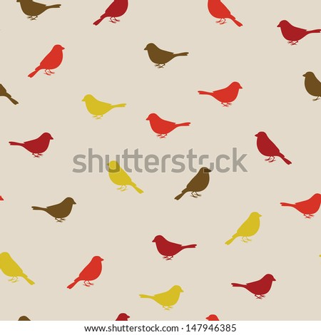 Birds seamless pattern. Colorful texture - stock vector