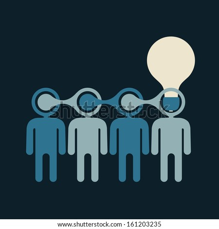 birth of bright innovative idea generated by team