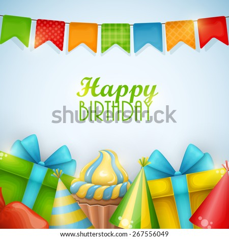 Birthday background. Vector illustration. - stock vector