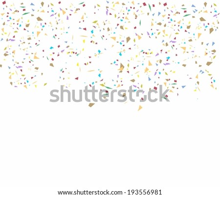 Birthday background with confetti, element for design, vector illustration - stock vector