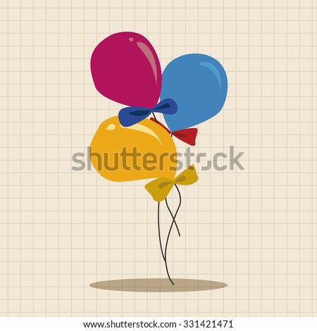 birthday ballon theme elements vector,eps - stock vector