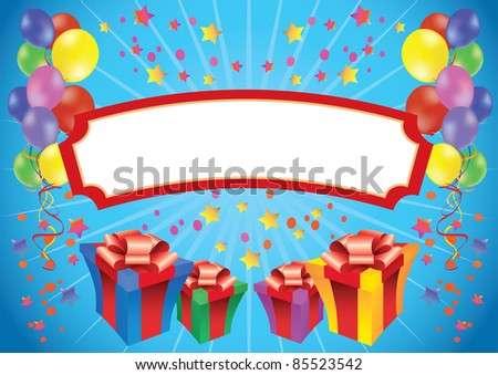 Birthday banner with a copy space in the middle - stock vector