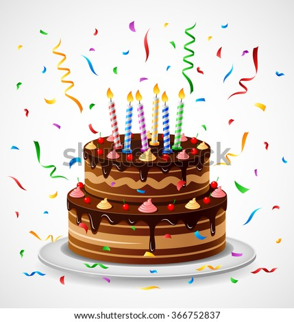 Birthday Cake Stock Vector 366752837 Shutterstock