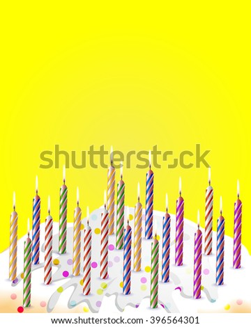Birthday cake for birthday - stock vector