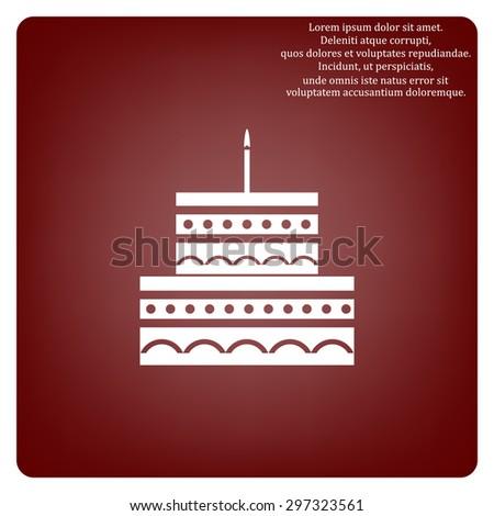Birthday Cake Icon Icon Vector Design Stock Vector 2018 297323561