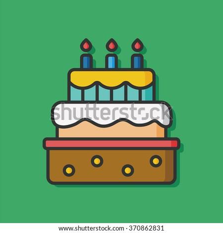 Hand Holding Cake Happy Birthday Flat Stock Vector 722266144
