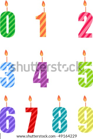 Birthday candle - stock vector