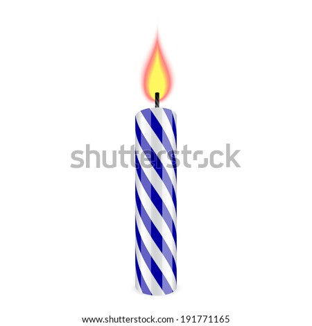 birthday candles in blue and white