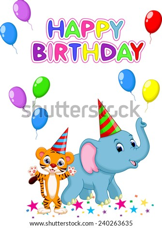 Birthday card background - stock vector