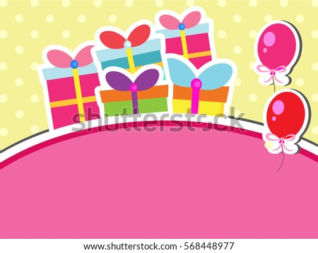 Birthday Card Girl Boy Valentine Day Stock Vector 568448977