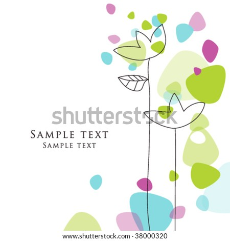 birthday card, nice colorful greeting card - template Cute simple Artistic hand drawn illustration - doodle For baby shower, greetings, invitation, mother's day, birthday, party, wedding - stock vector