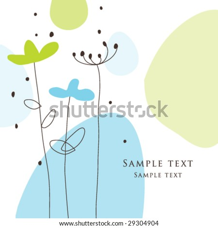 Birthday card, Nice Greeting card - template Cute simple Artistic hand drawn illustration - doodle For baby shower, greetings, invitation, mother's day, birthday, party, wedding - stock vector