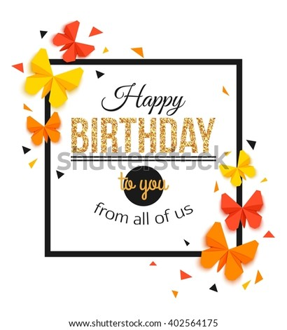 Birthday Card Template Images RoyaltyFree Images Vectors – Birthday Card Format
