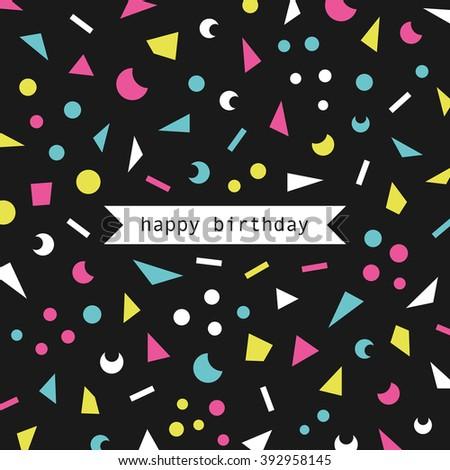 birthday card. vector illustration - stock vector