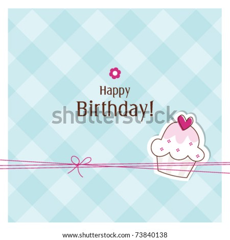 Birthday card with copy space - stock vector