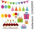 Birthday Celebration Elements - stock vector