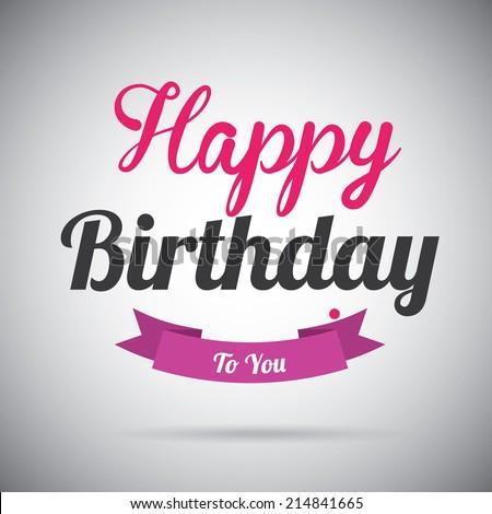 Birthday design over  gray background, vector illustration - stock vector