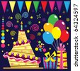 Birthday Elements - stock vector