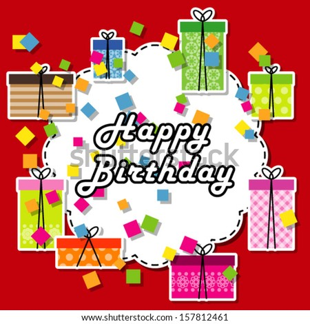Birthday gifts ready for birthday party  - stock vector