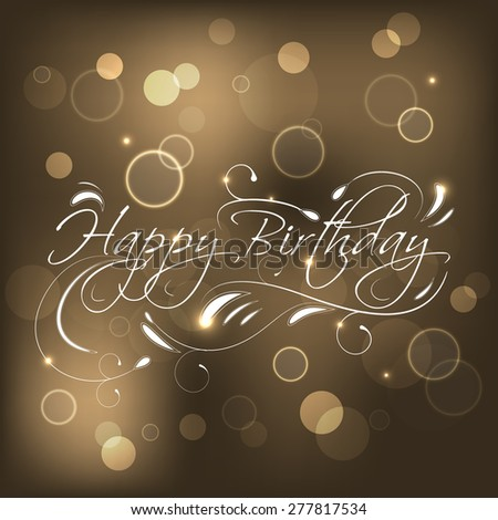 Birthday greeting card design bubbles glitter stock vector birthday greeting card design with bubbles glitter and ornate swirlsvector illustration for your bookmarktalkfo Image collections
