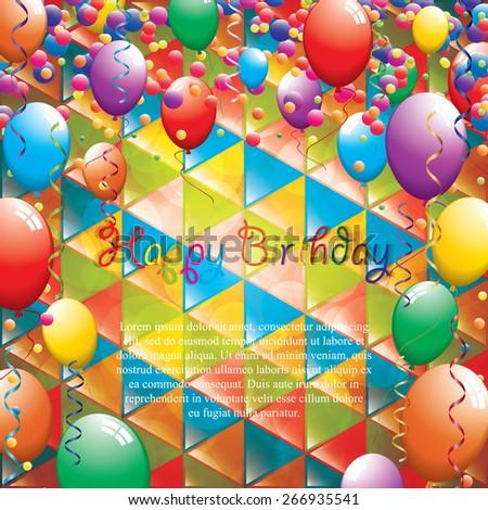Birthday greeting card.Vector - stock vector