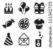 Birthday Icons - stock