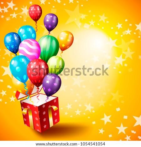 Birthday invitation card birthday background stock vector hd birthday invitation card birthday background stopboris Images