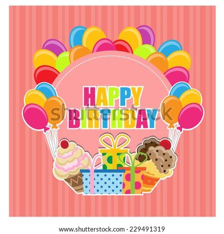 Birthday Invitation. vector - stock vector