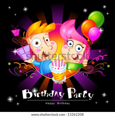 birthday party - stock vector
