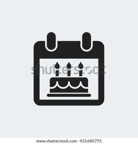 Birthday Party Celebration Calendar Vector Icon - stock vector