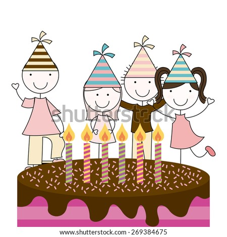 birthday party design, vector illustration eps10 graphic  - stock vector