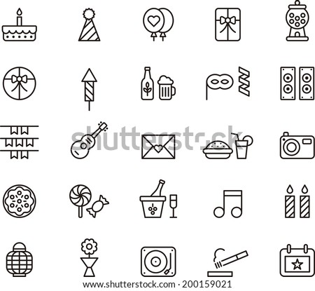 Birthday Party icons - stock vector