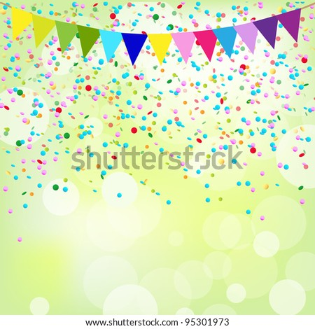 Birthday Poster, Vector Background - stock vector